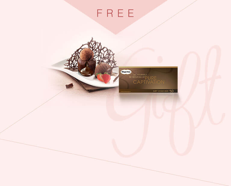 What makes your partners or friends happier? Receive a Free Haagen-Dazs? Gift Voucher when you purchase any items in this eShop exclusive gift collection! Share the delicious ice cream desserts and sweet moments with your besties!