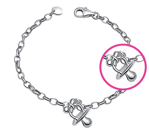 Soother 925 Silver Baby Bracelet/Anklet