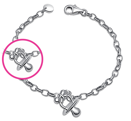 【Soother 925 Silver Baby Bracelet/Anklet