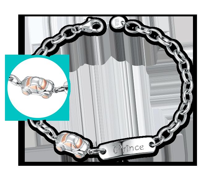 Toy Car 925 Silver Baby Bracelet/Anklet