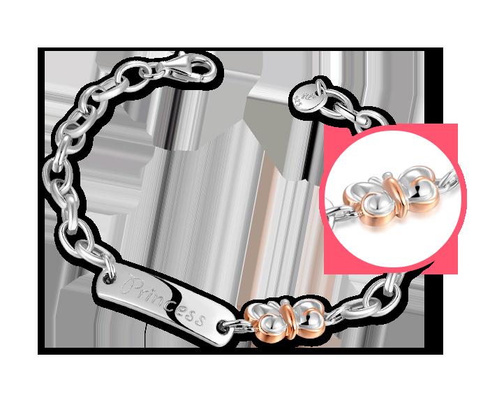 Butterfly 925 Silver Baby Bracelet/Anklet