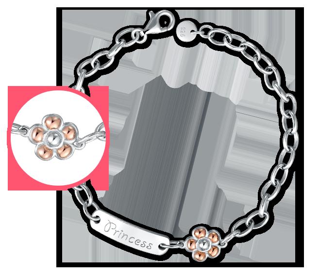 """""""Flower"""" 925 Silver Baby Bracelet/Anklet"""
