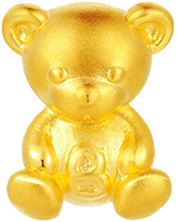Teddy Bear Baby Gold Charm (Free Red String)