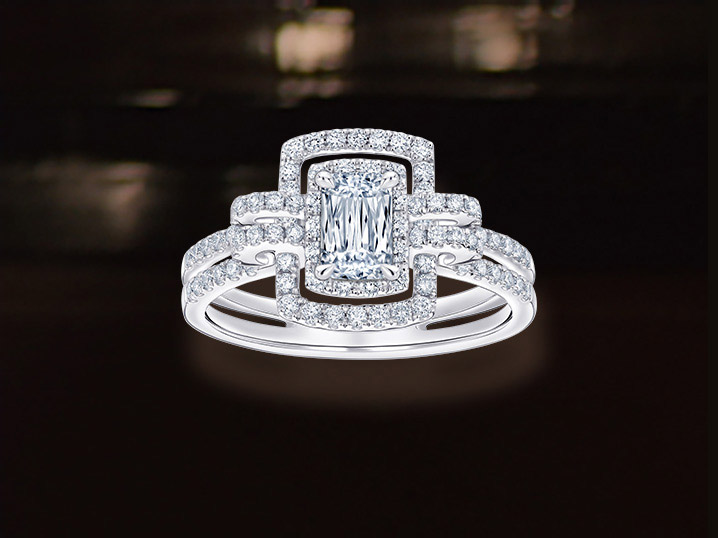 L01195R 18K/750 White Gold ASHOKA® Diamond Ring