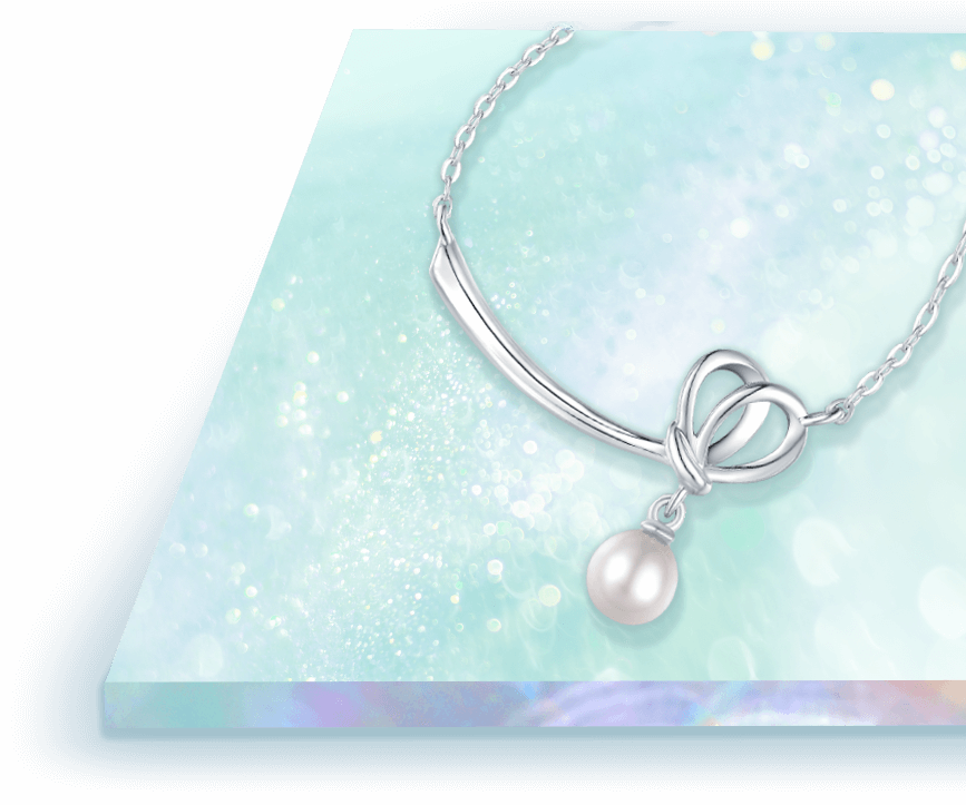 Deepest Love 925 Silver Pearl Necklace