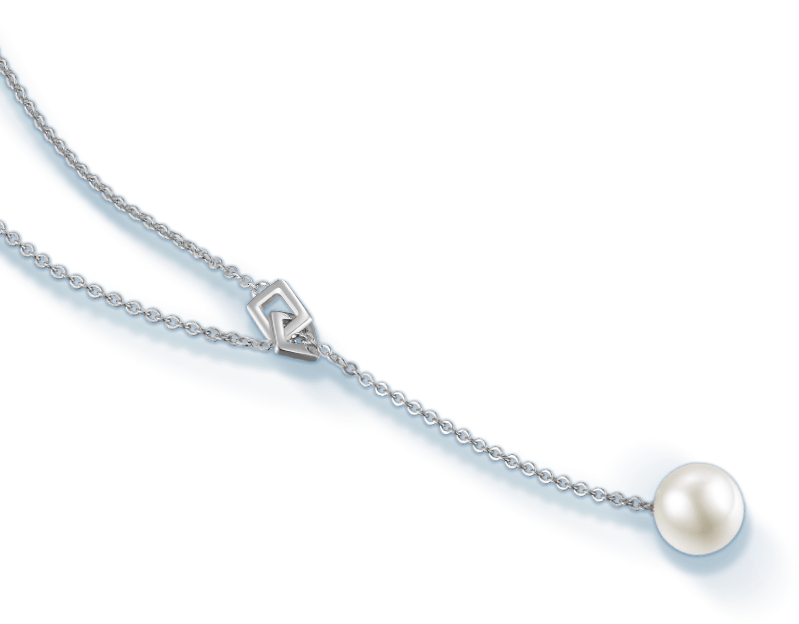 Back to Basics 925 Sterling Silver Pearl Necklace