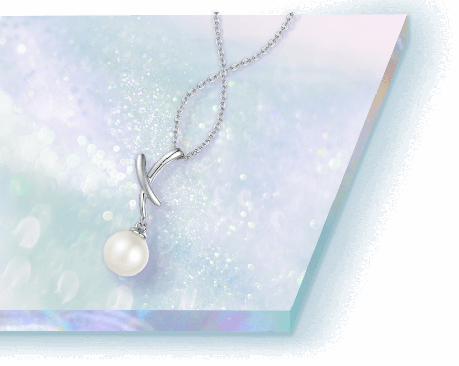 Pure Bliss 925 Sterling Silver Pearl Necklace