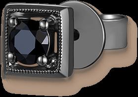 Mystery Black 9K/375 Black Gold Enhanced Black Color Diamond Single Earring